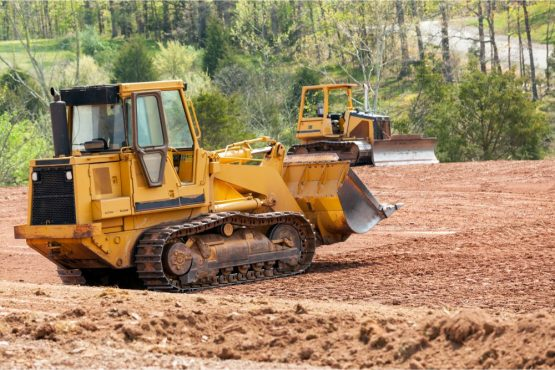 Picture of a bulldozer land clearing in Jacksonville